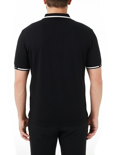 Emporio Armani  Pamuklu Düğmeli Polo T Shirt Erkek Polo 3K1Fa4 1Jptz 0047 Siyah